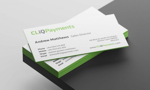CLiQ Payments business cards